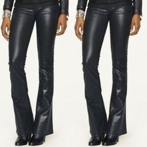 Ralph Lauren black label 109 coated black pants